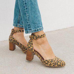 Soludos Heels Gemma Leopard Print Pumps